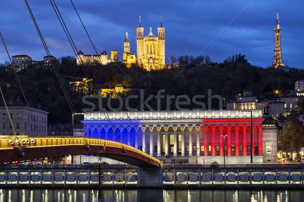 Lyon França 19 2015 histórico tribunal Foto stock © vwalakte