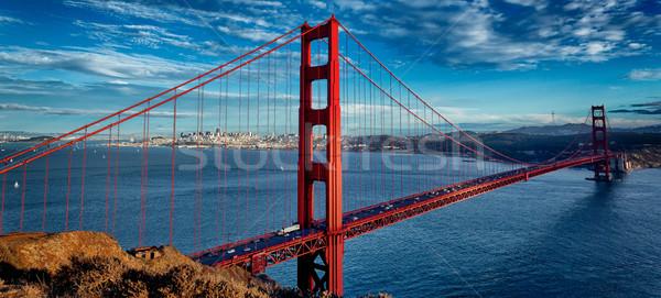 Panorâmico ver famoso Golden Gate Bridge San Francisco Califórnia Foto stock © vwalakte