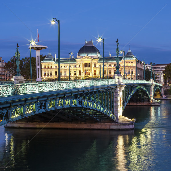 View of famous bridge and University Stock photo © vwalakte