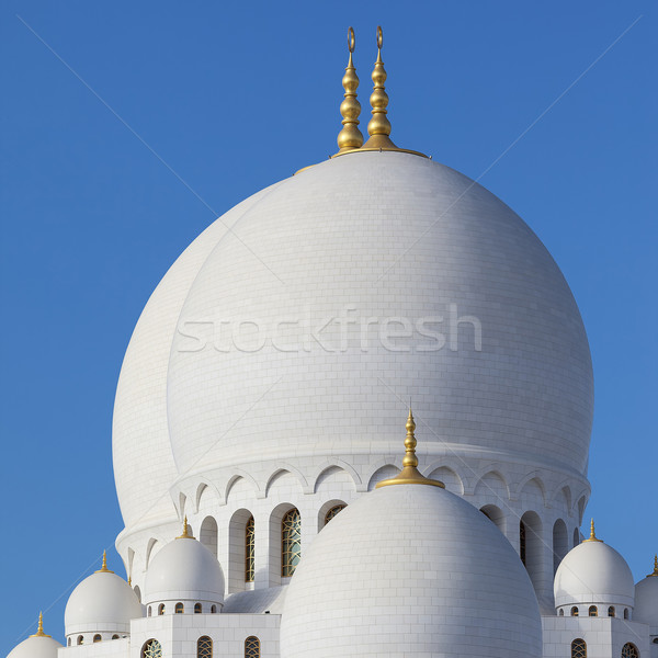 Part of Abu Dhabi Sheikh Zayed Mosque Stock photo © vwalakte