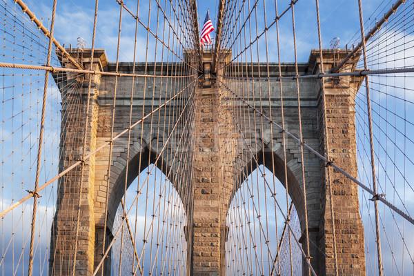 Híd New York USA épület tájkép alma Stock fotó © vwalakte
