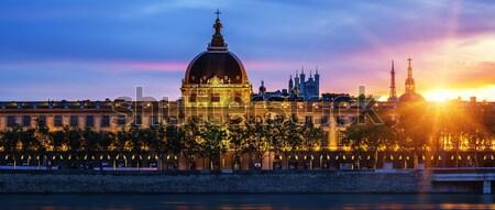 View of Lyon city at sunset Stock photo © vwalakte
