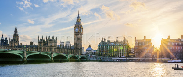 Сток-фото: панорамный · мнение · большой · Бен · часы · башни · Лондон