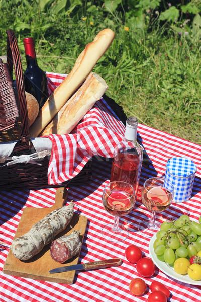 Picnic and wine Stock photo © vwalakte
