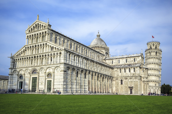 View of the great Piazza Miracoli in Pisa Stock photo © vwalakte