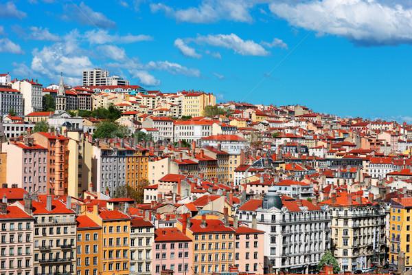 Ver Lyon cidade blue sky França Foto stock © vwalakte