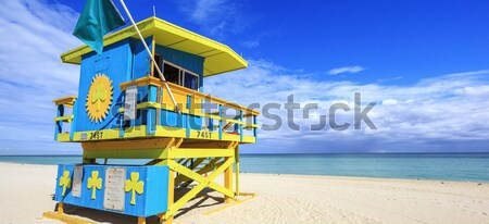Colorful Lifeguard Tower in South Beach Stock photo © vwalakte