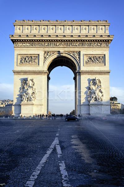Триумфальная арка известный Париж Франция автомобилей здании Сток-фото © vwalakte