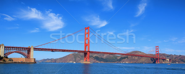 Panorâmico ver famoso Golden Gate Bridge San Francisco EUA Foto stock © vwalakte