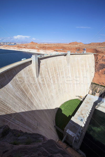 vertical view of famous Glen Dam Stock photo © vwalakte