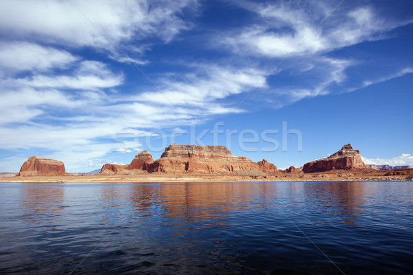 famous red cliffs of the lake Powell Stock photo © vwalakte