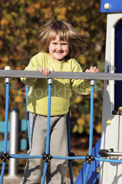 Foto d'archivio: Parco · giochi · giovani · bambino · giocare · colorato · autunno