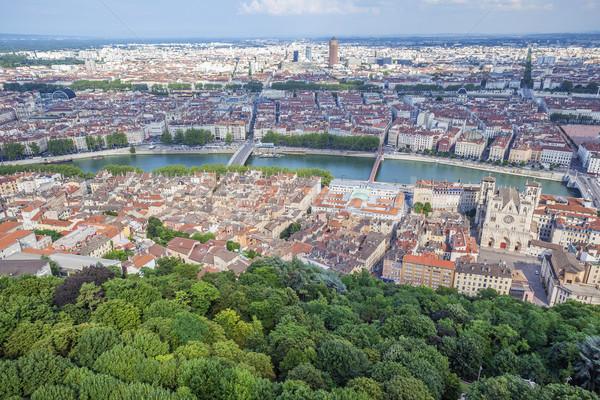 aerial view at Lyon Stock photo © vwalakte