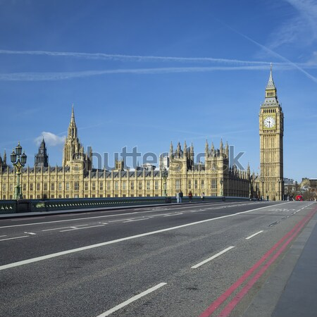 Big Ben maison parlement Londres eau horloge Photo stock © vwalakte