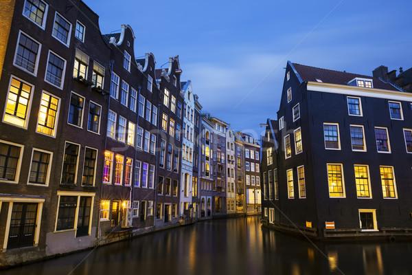 Amsterdam canal at night Stock photo © vwalakte