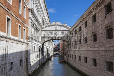 Bridge of Sighs and gondola Stock photo © vwalakte