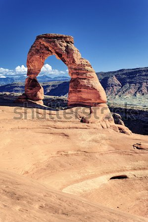 Sunset light at Delicate Arch Stock photo © vwalakte
