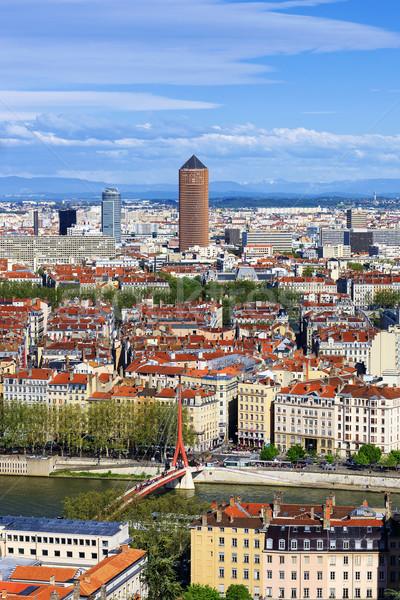 Famoso Lyon cidade França casa Foto stock © vwalakte