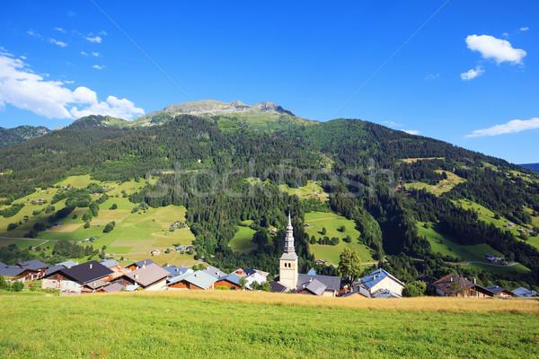 Mountain village Stock photo © vwalakte