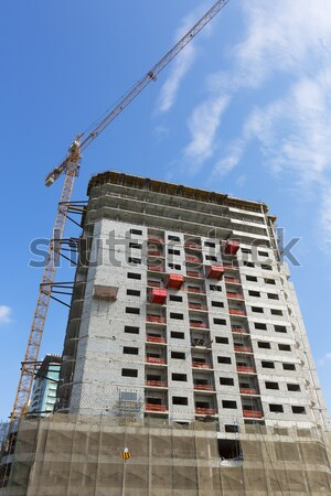 View of crane and building construction  Stock photo © vwalakte