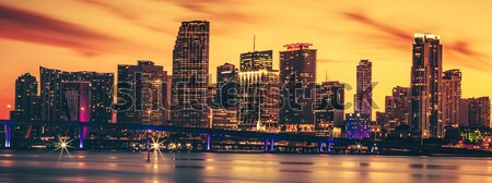 Panoramic view of Miami, special photographic processing Stock photo © vwalakte