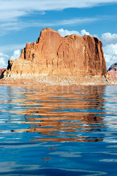 cliffs reflected in the lake Powell Stock photo © vwalakte