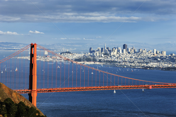 Foto d'archivio: Golden · Gate · Bridge · San · Francisco · centro · acqua · mare · metal