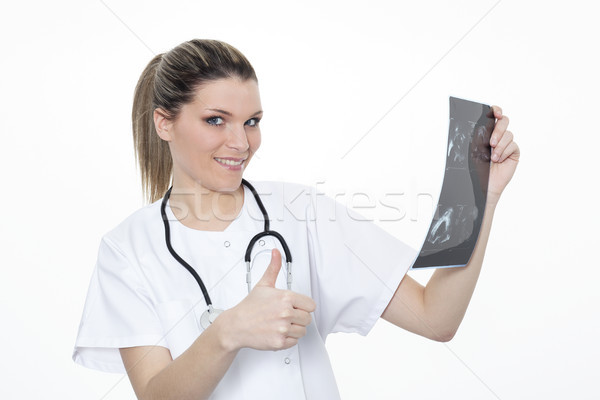 blond woman doctor Stock photo © vwalakte