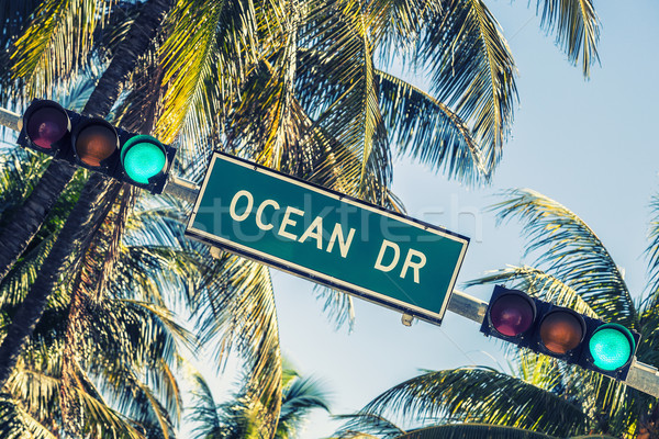 Ocean drive sign Stock photo © vwalakte