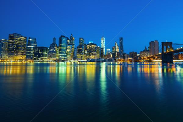 New York City Manhattan midtown at dusk Stock photo © vwalakte