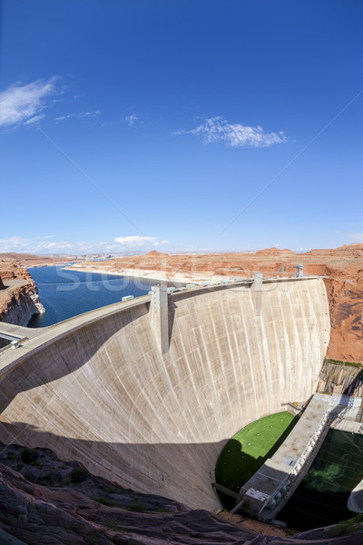vertical view of Glen Dam in Page Stock photo © vwalakte