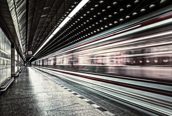 European metro transit vehicle in motion Stock photo © vwalakte