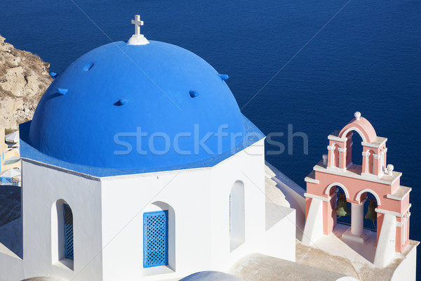 Traditional architecture church in Oia village, landmark of Gree Stock photo © vwalakte