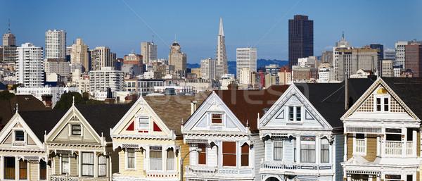 Panorámica vista San Francisco cuadrados carretera viaje Foto stock © vwalakte