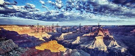 Panorâmico ver Grand Canyon nascer do sol pôr do sol viajar Foto stock © vwalakte