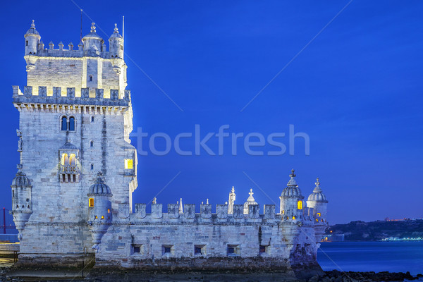 The Belem tower at sunset Stock photo © vwalakte