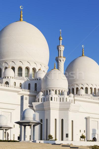 Moschea cielo acqua costruzione blu culto Foto d'archivio © vwalakte