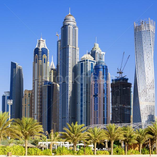 Skyscrapers at jumeirah beach Stock photo © vwalakte