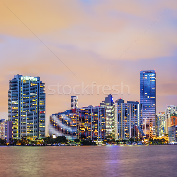 Сток-фото: Майами · Флорида · закат · лет · красочный