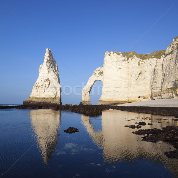 View of Etretat Aval cliff Stock photo © vwalakte