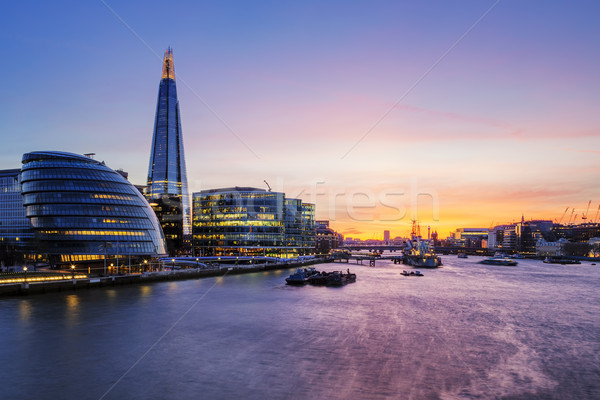 London city at sunset. Stock photo © vwalakte