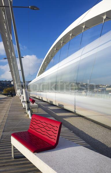 вертикальный мнение моста Лион Франция скорости Сток-фото © vwalakte