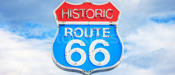Route 66 sign Stock photo © vwalakte