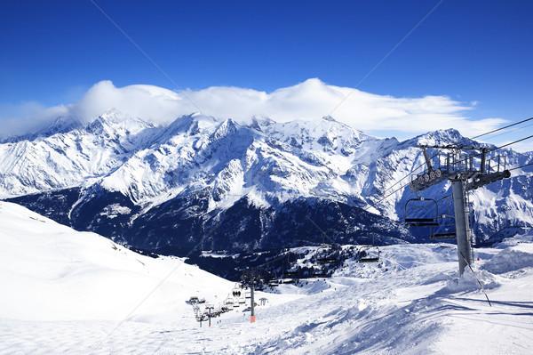 Ski chair-lift Stock photo © vwalakte