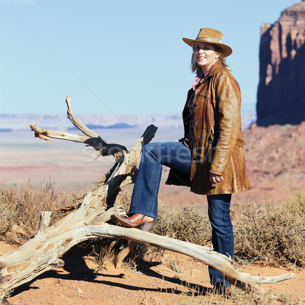 portrait of cowgirl Stock photo © vwalakte