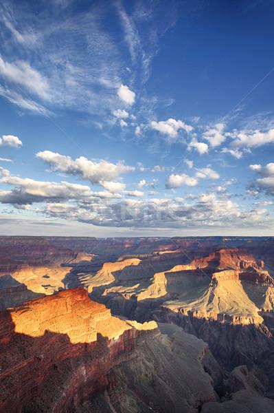 Grand Canyon ver nuvem blue sky pôr do sol natureza Foto stock © vwalakte