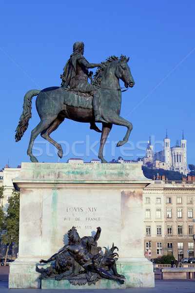 statue and Fourviere basilic Stock photo © vwalakte