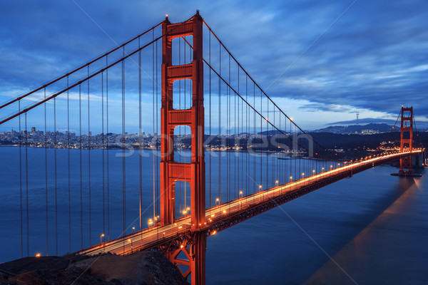 Golden Gate Bridge San Francisco Califórnia EUA metal Foto stock © vwalakte