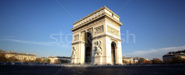 Panoramic view of Arc de Triomphe Stock photo © vwalakte