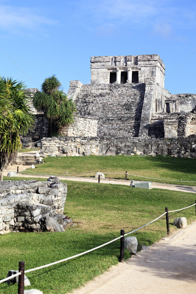 vertical view of Tulum ruins Stock photo © vwalakte